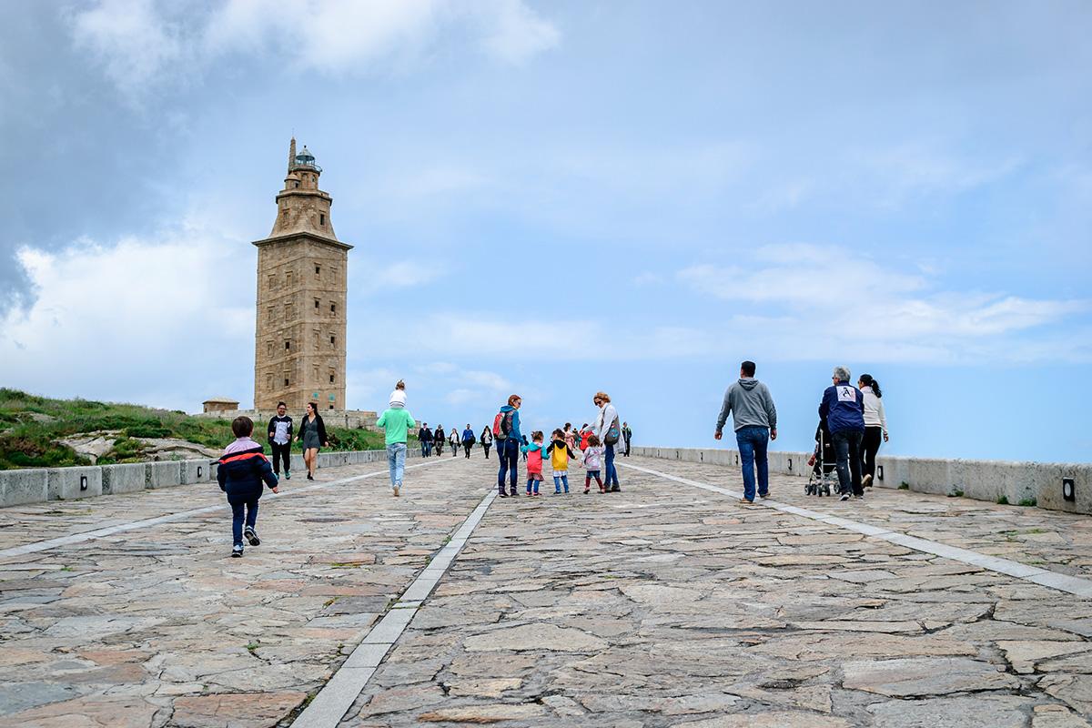 La Torre de Hércules, en La Coruña. Foto: Shutterstock