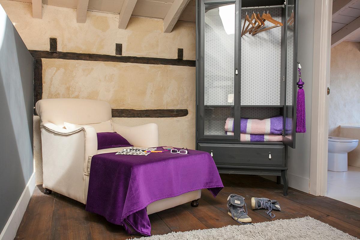 Detalle de una habitación. Hotel Posada Priorato de Val
