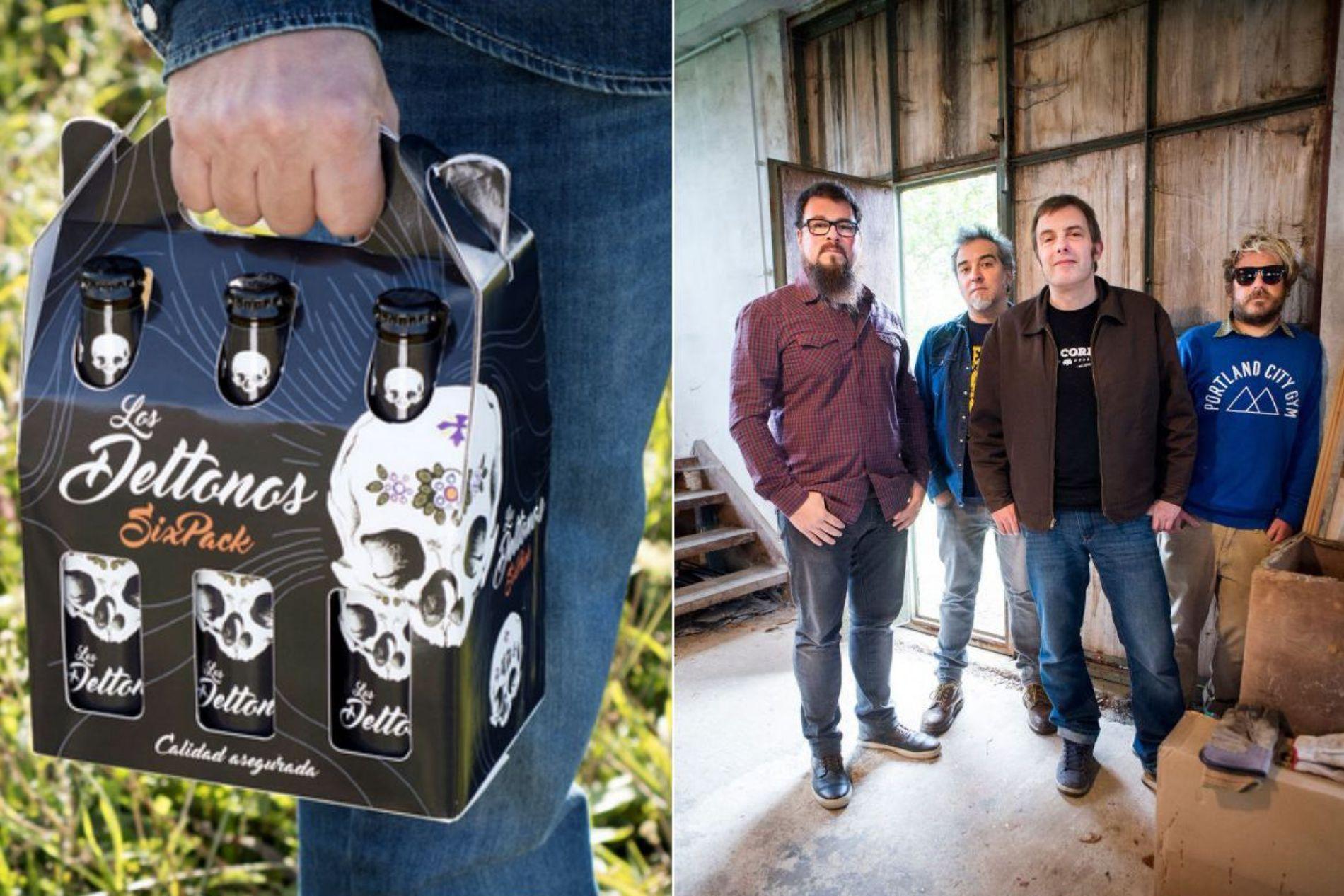 La portada 'Sixpack' del grupo cántabro, de Muriedas, unos 'masters' en el oficio. Fotos: Los DelTonos.