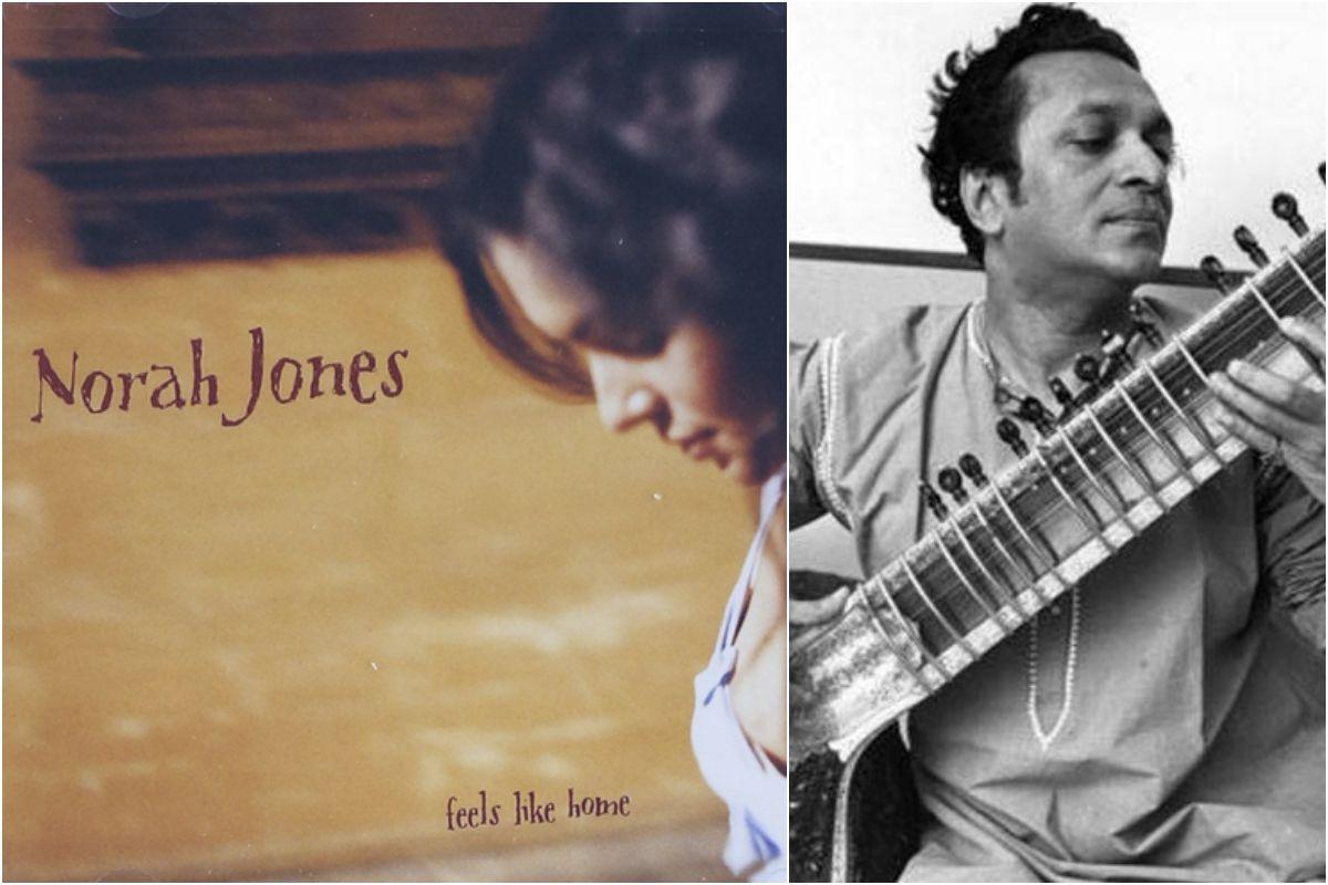 Norah Jones y su padre, el genio del sitar, Ravi Shankar. Fotos: Facebook.