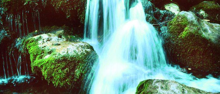 Nacimiento del río Mundo en la sierra de Alcaraz.