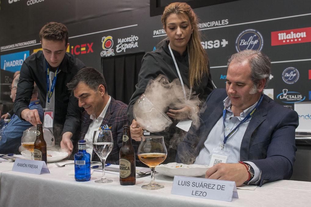 Ramón Freixa y Luis Suárez de Lezo, durante un momento del concurso.