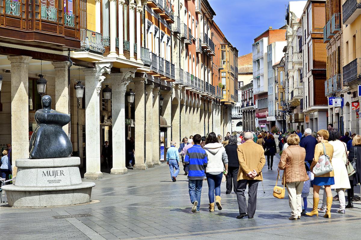 Calle Mayor. Foto: Palencia Turismo.