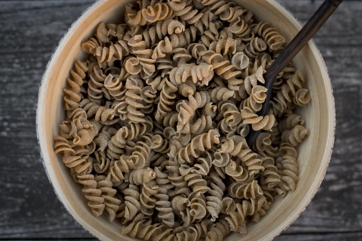 'Fusilinis' hechos con gusanos de harina.