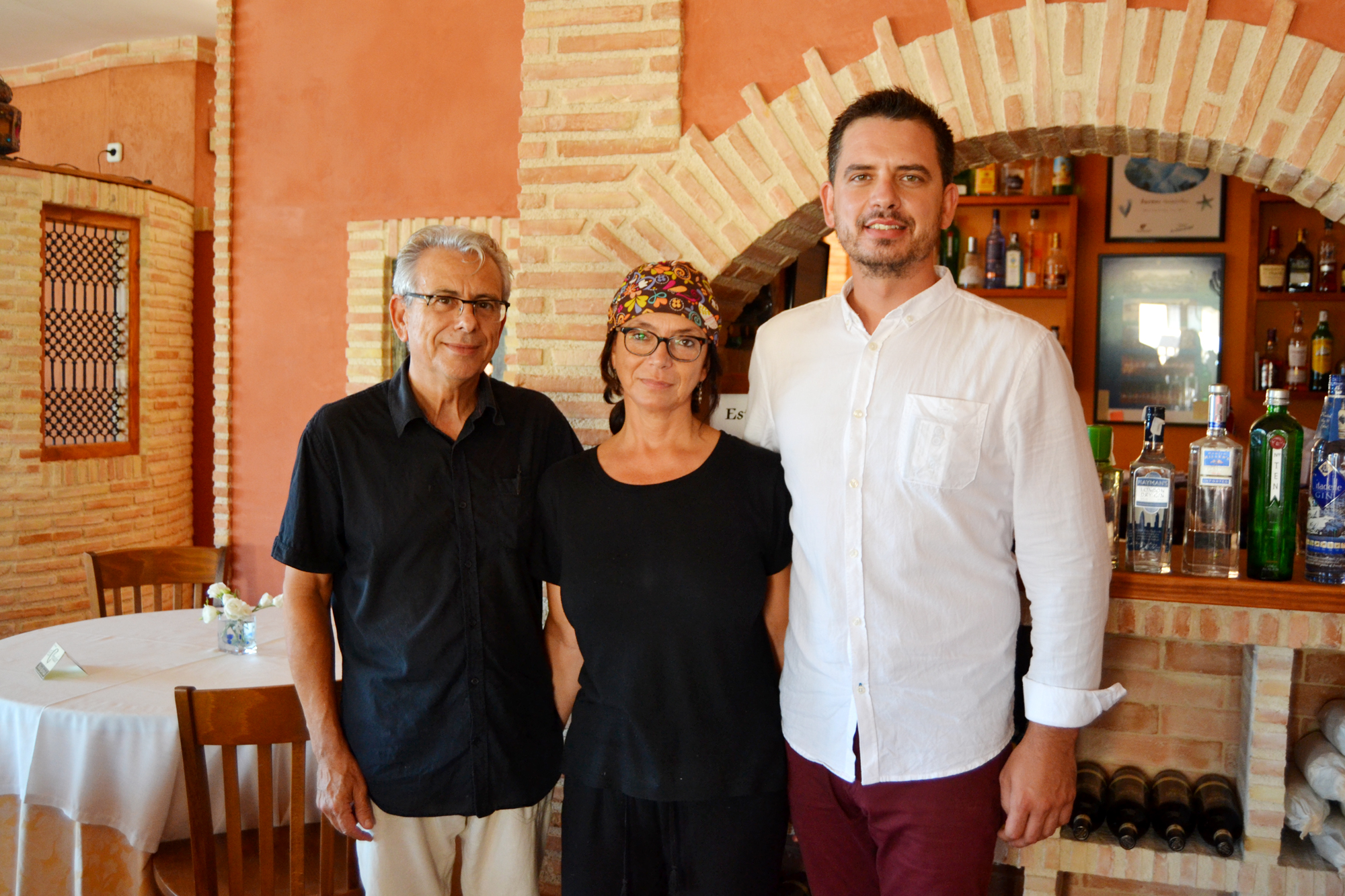Pedro, Isabel y Borja, los artífices de El Cenador. Foto: A.M.