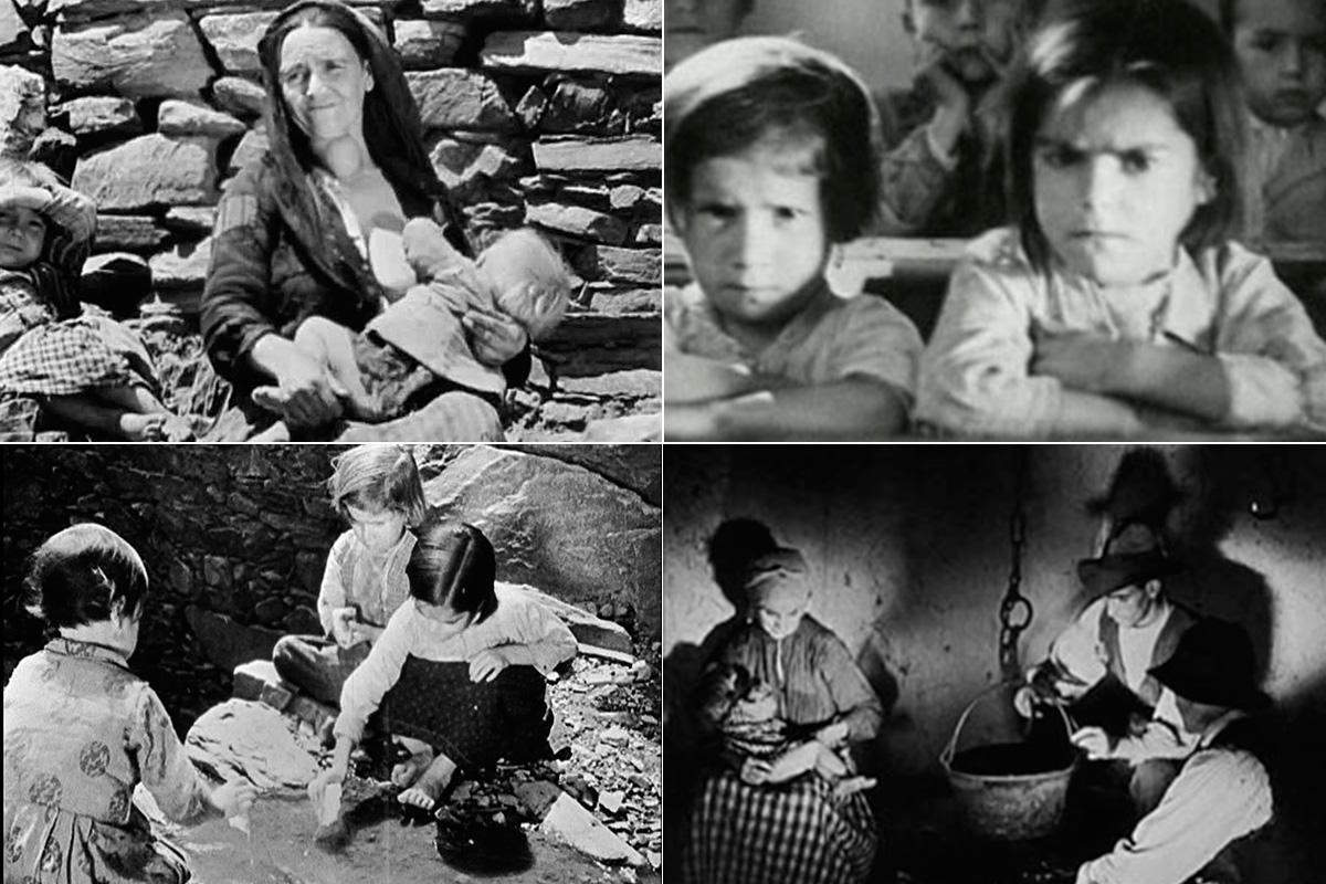 Fotogramas del documental 'Las Hurdes. Tierra sin pan' de Luis Buñuel.