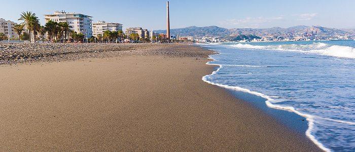 Playa Misericordia, Málaga. Foto cedida por: © Área de Turismo Ayuntamiento de Málaga.