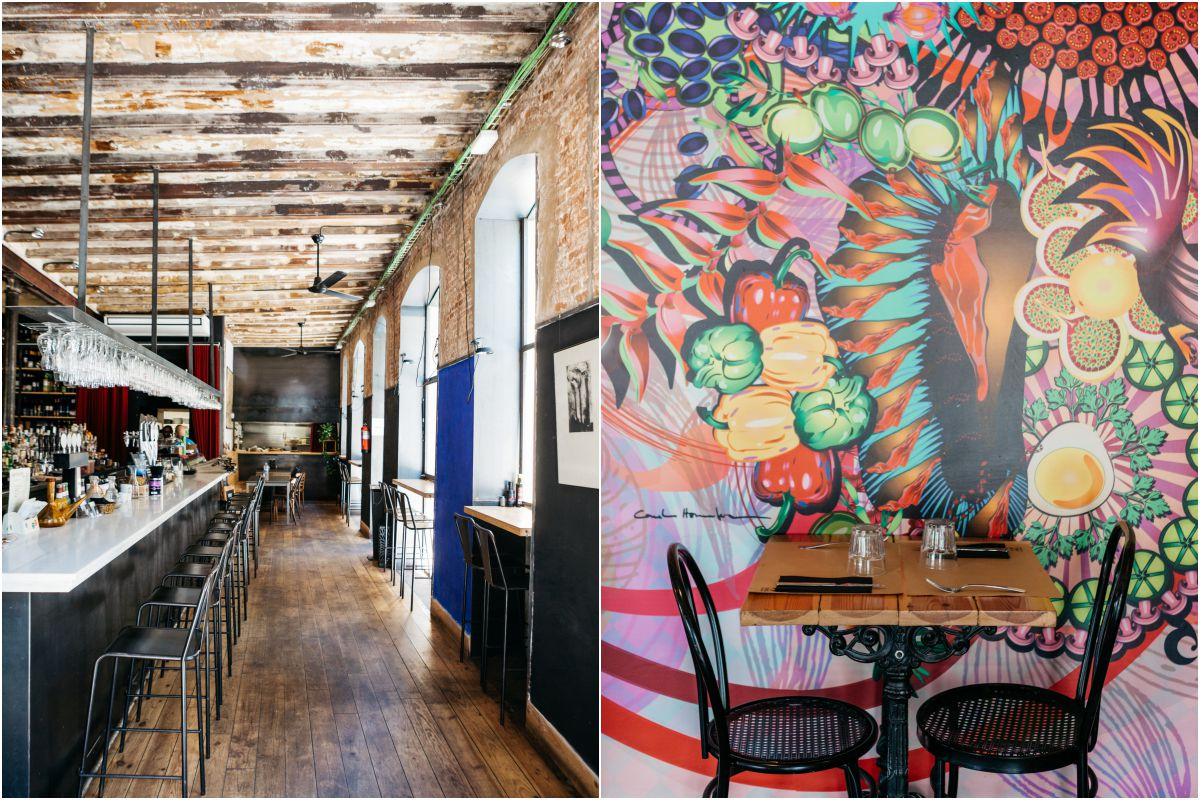 El restaurante 'Minyam' y 'Granja Mabel'.