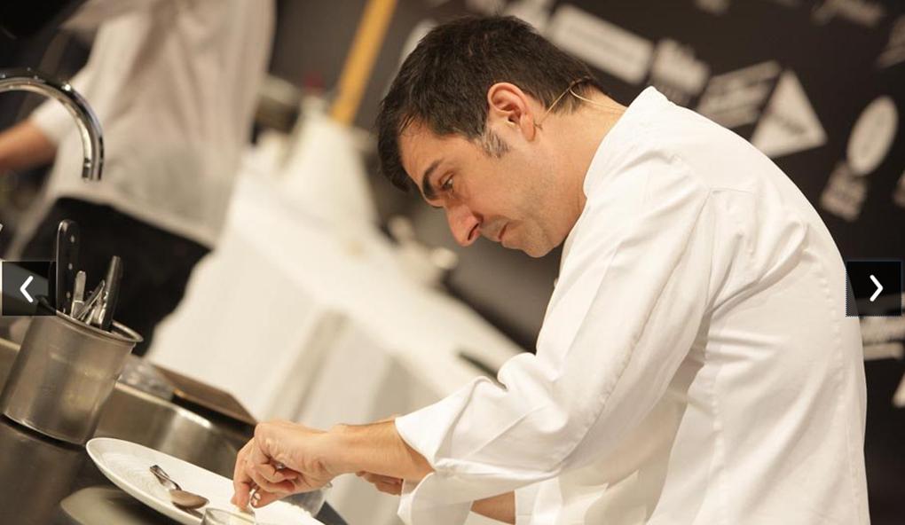Ramón Freixa en su cocina. Foto: Ramón Freixa.