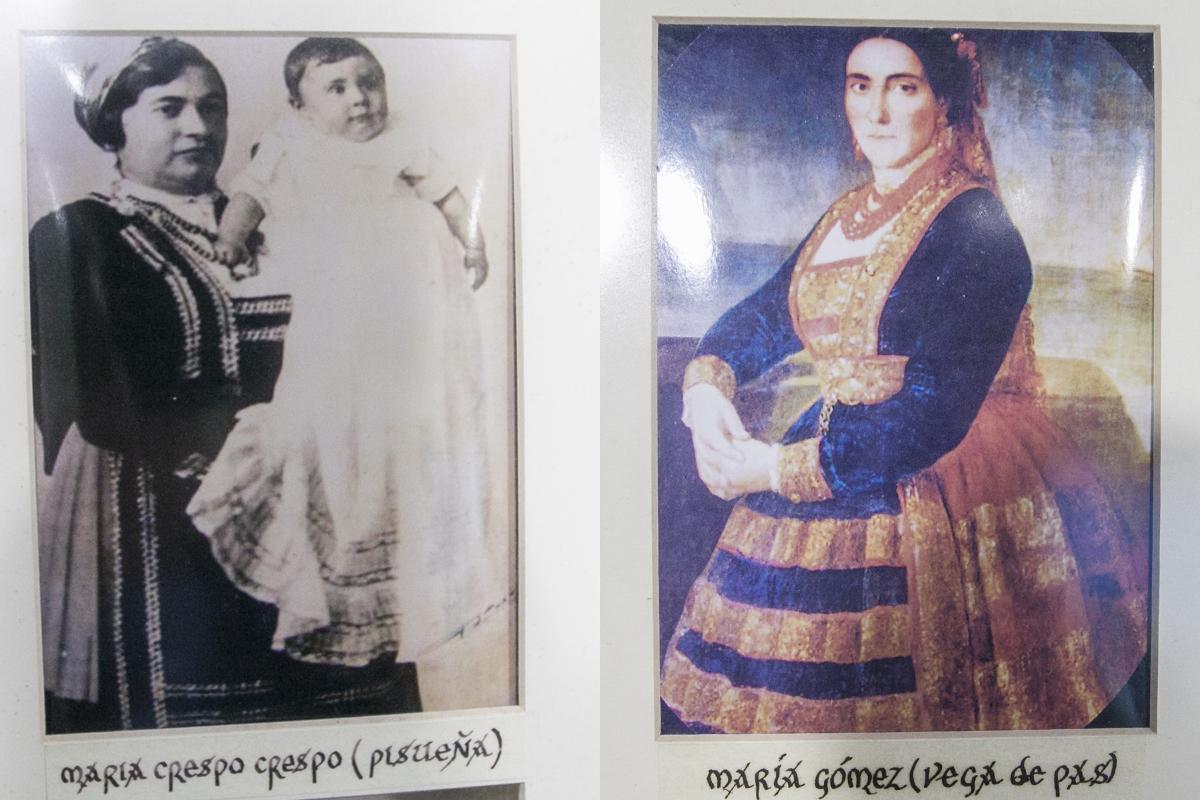Museo de las Amas de Cría. A la derecha, María Gómez, la primera ama en óleo. Selaya. Cantabria.