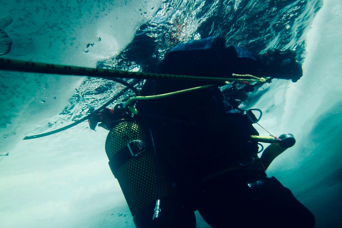 Se bucea bajo un techo de hielo, una experiencia única. Foto: José Polo.