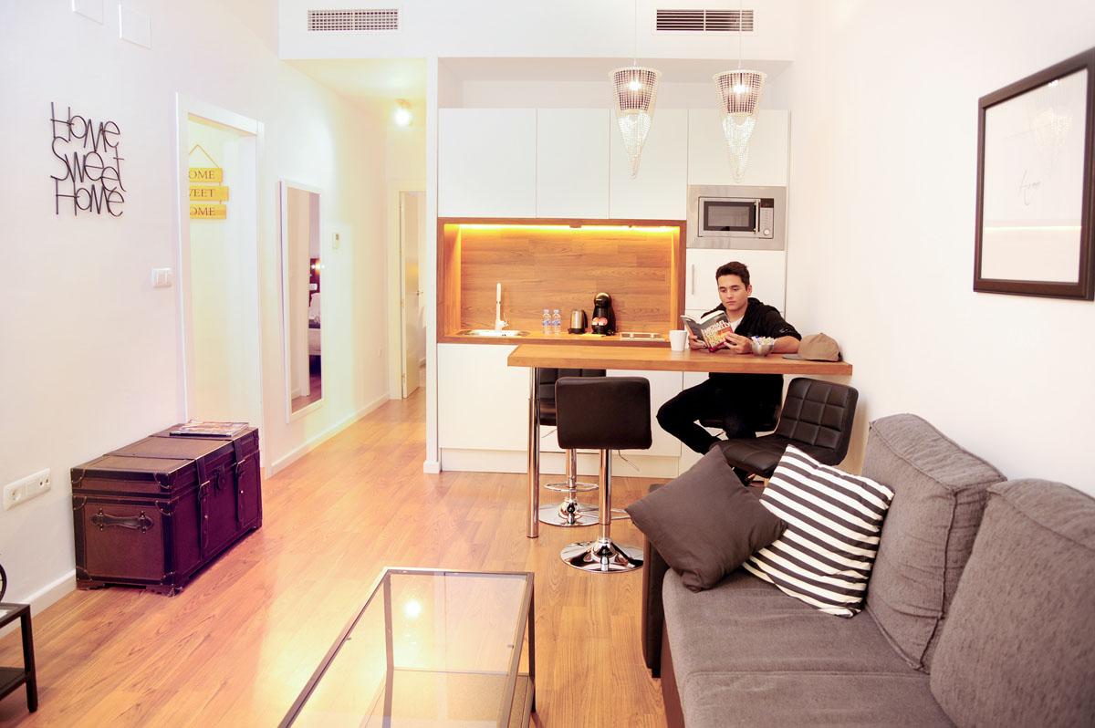 Todos los apartamentos cuentan con una coqueta cocina.
