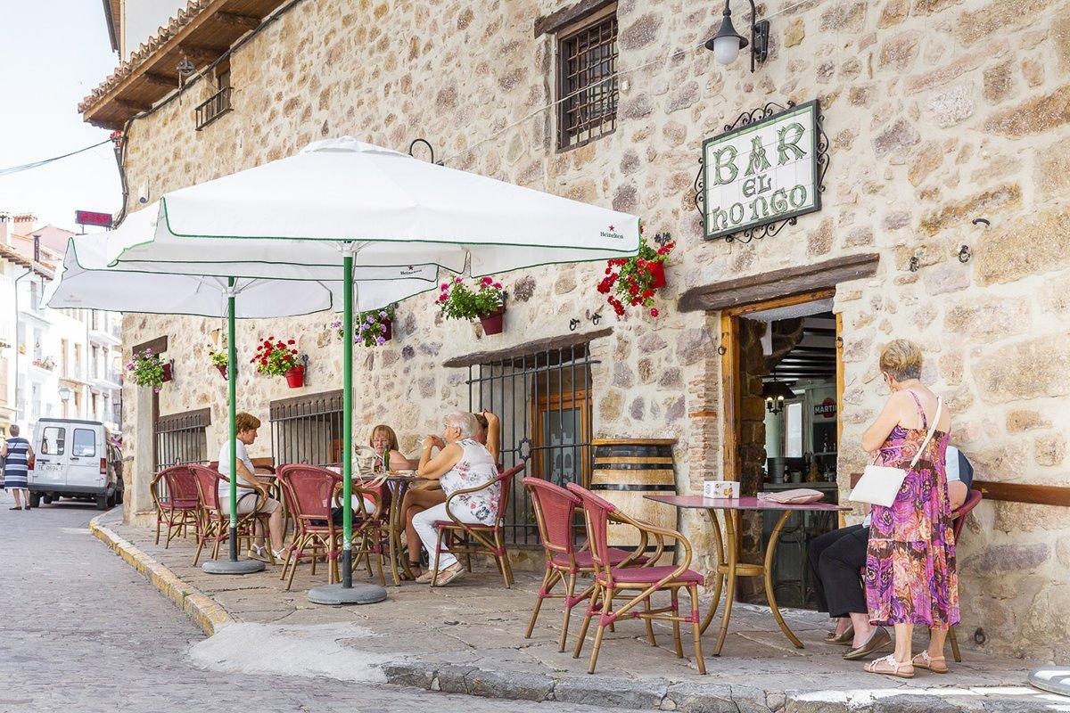 Uno de los establecimientos típicos de Mora de Rubielos.