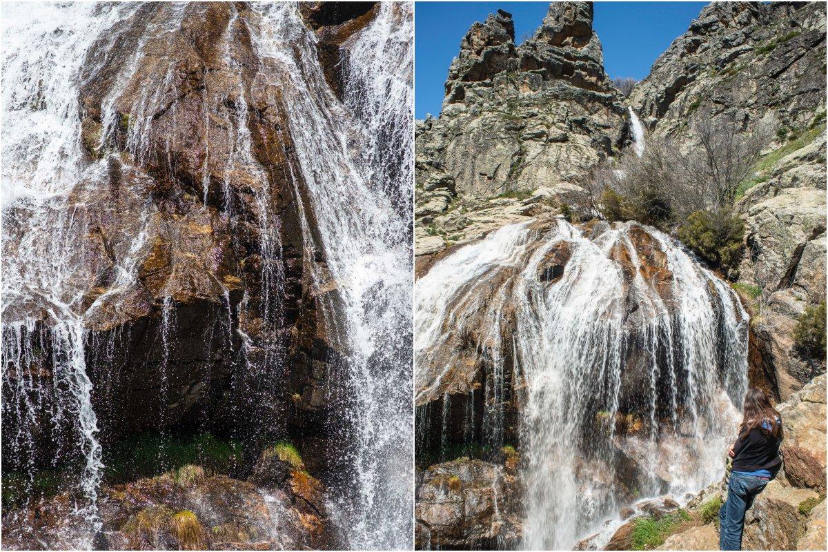 Cascadas de Sierra de Guadarrama: Los Litueros (collage)