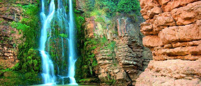 Cascada en el río Huerva, Parque Natural de Muel.