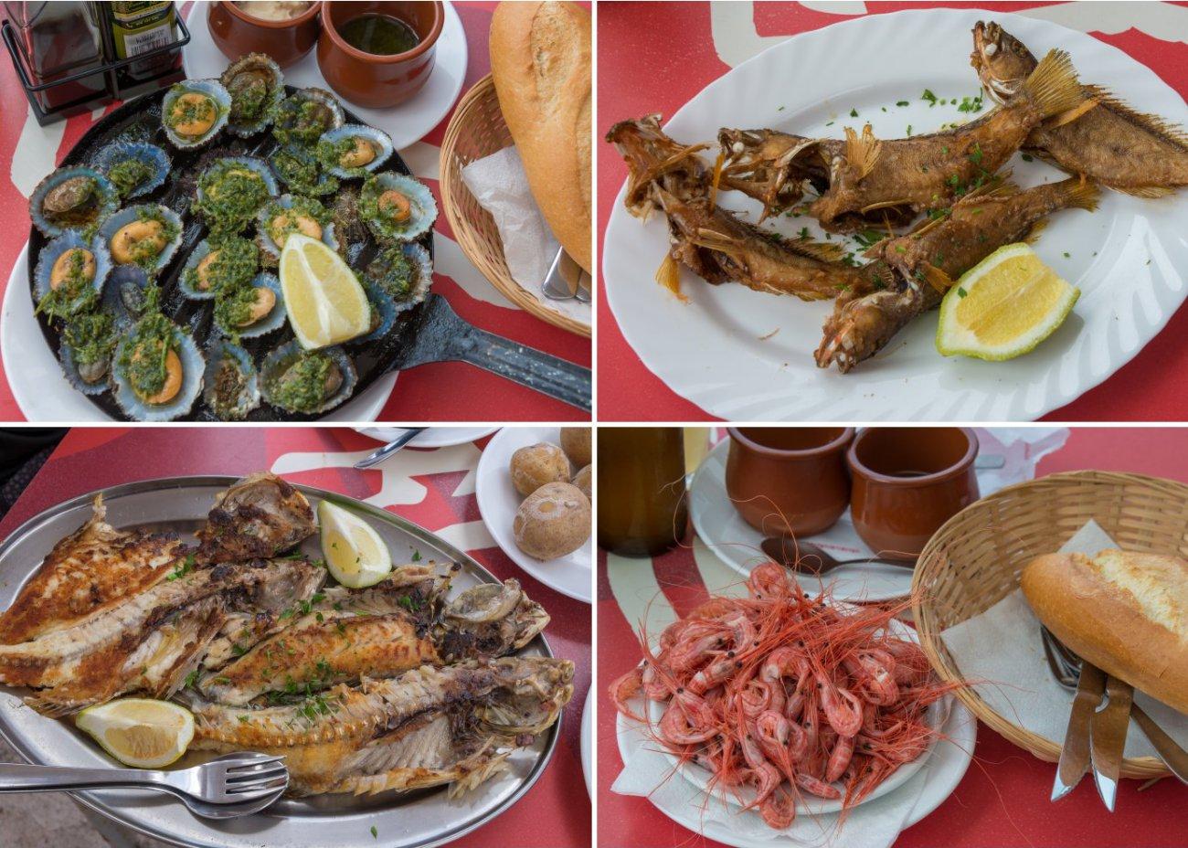 'Cofradía de pescadores' (Punta del Hidalgo): platos