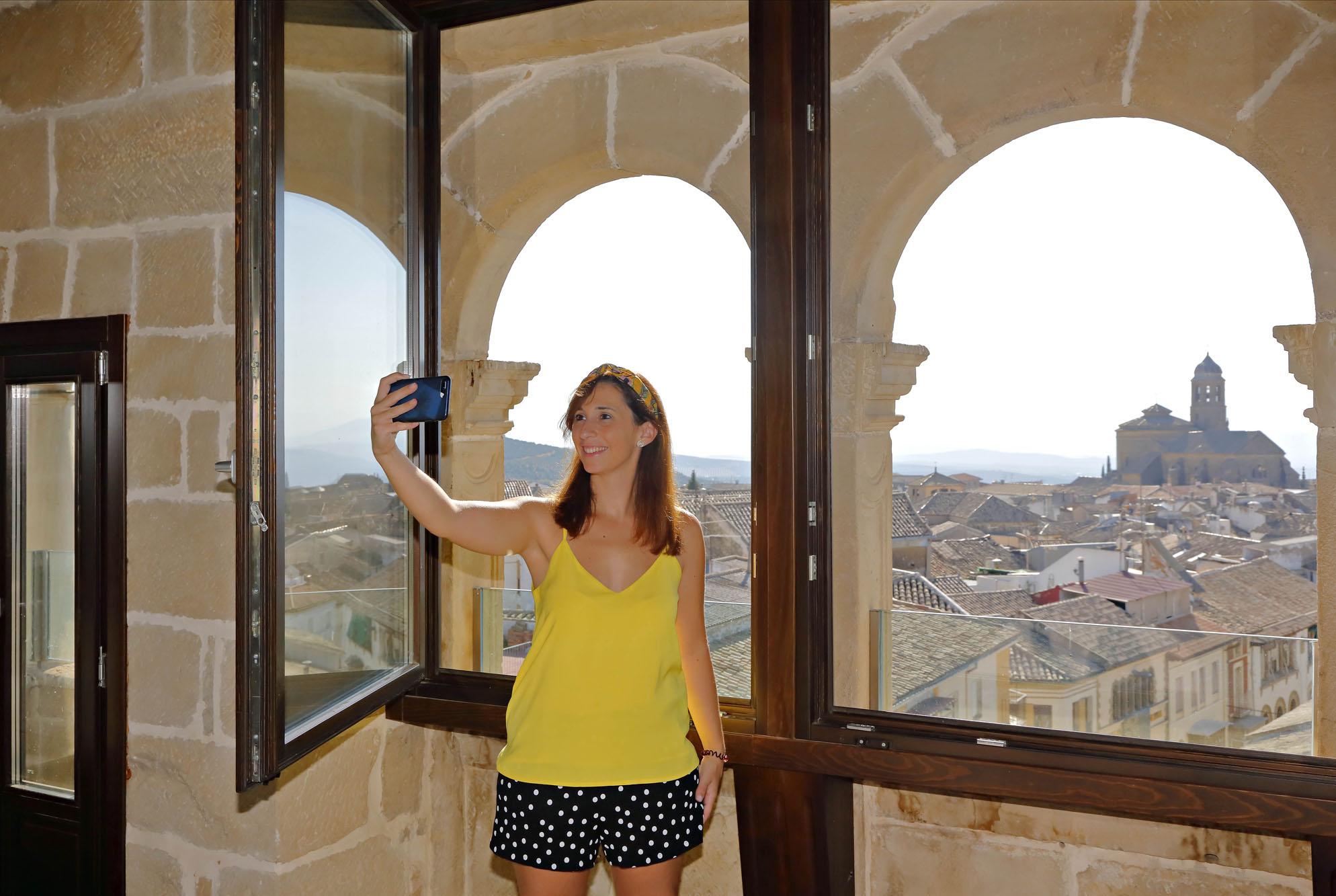 El mirador de la 'suite' tiene unas vistas de 360 grados sobre Úbeda.