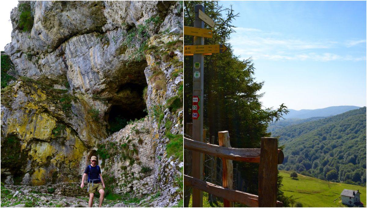 La cueva de San Adrián (para los que vayan directos); y Sancti Spiritus (en el prado), el inicio para los valientes.
