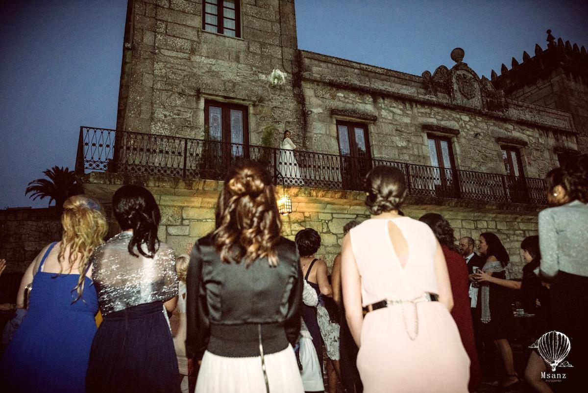 Esta novia sí que debió de sentirse una princesa. Foto: Pazo de Torres Agrelo.