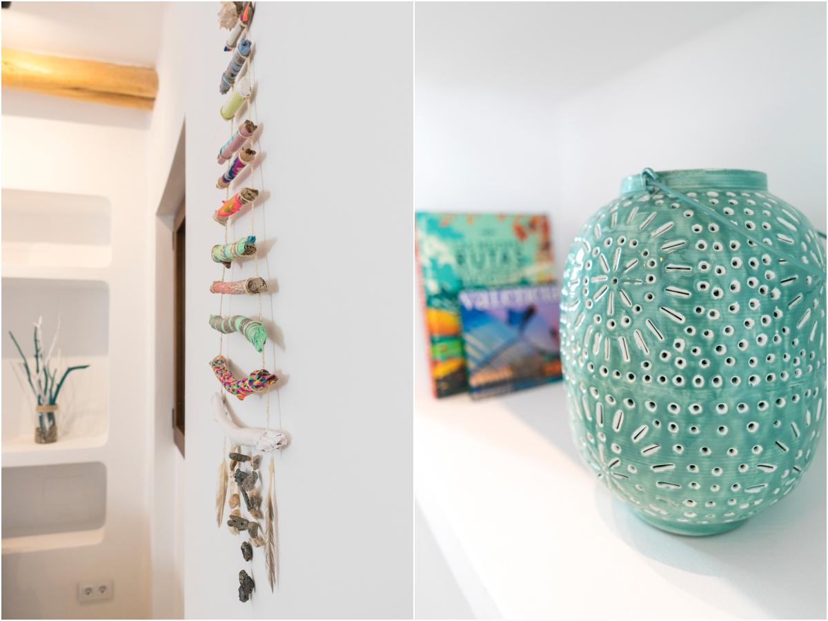 Los adornos inspirados en el Mediterráneo los elabora Helena, una artista local.