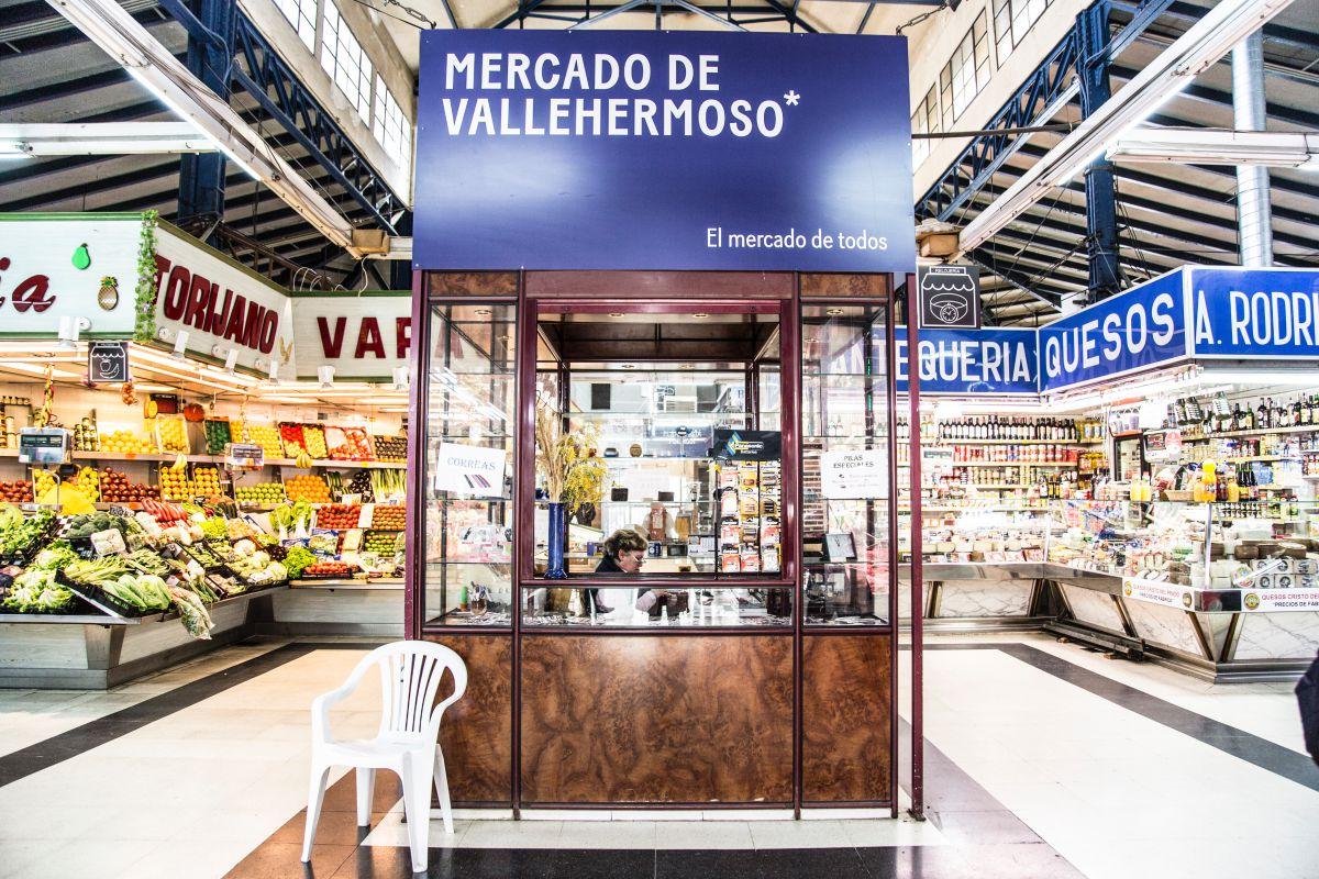Vista del interior del Mercado de Vallehermoso, en Madrid.