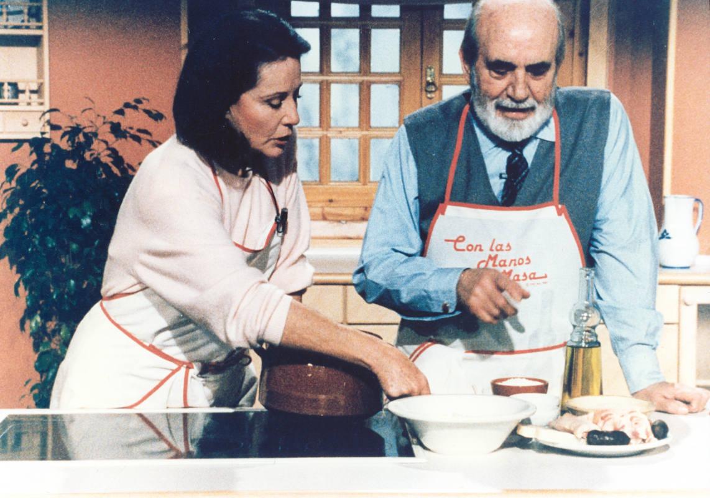 Elena Santonja y Antonio Ferrandis 'Chanquete'. Foto: RTVE.
