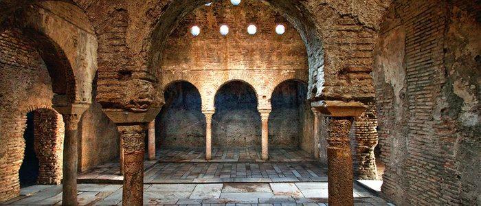 Imagen del interior de estos baños árabes. Foto: El Jubilado.