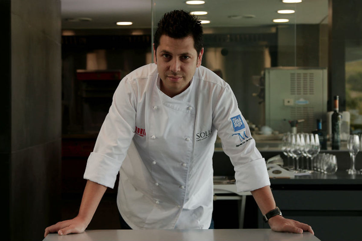 Diego Gallegos en su restaurante de Fuengirola.