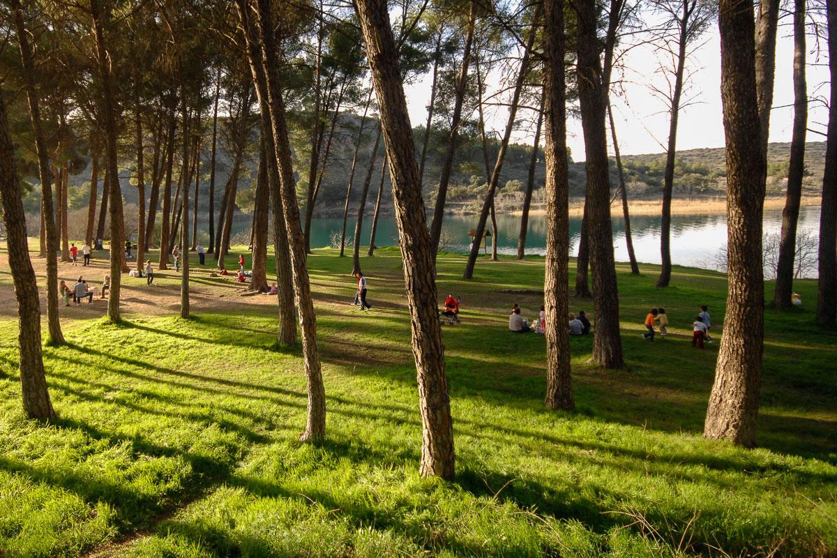 La laguna la Colgada, en Ciudad Real, un buen cobijo para pasar un día de verano. | Manuel Ruiz Toribio.