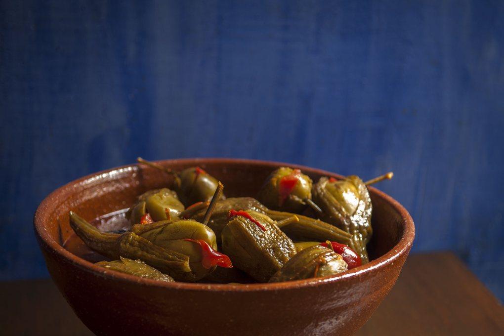 Berenjenas embuchadas de Almagro. Imposible comer una sola.