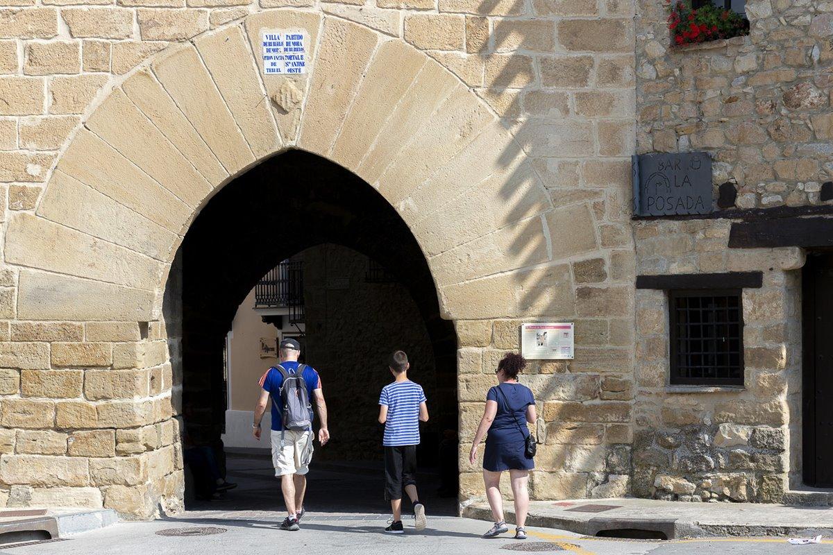 Portal de San Antonio, uno de los pocos restos de la antigua muralla.