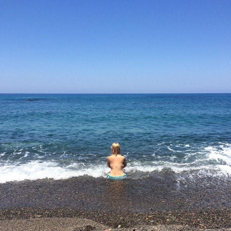 Disfrutando del mar en Cabo de Gata. Foto: Instagram.