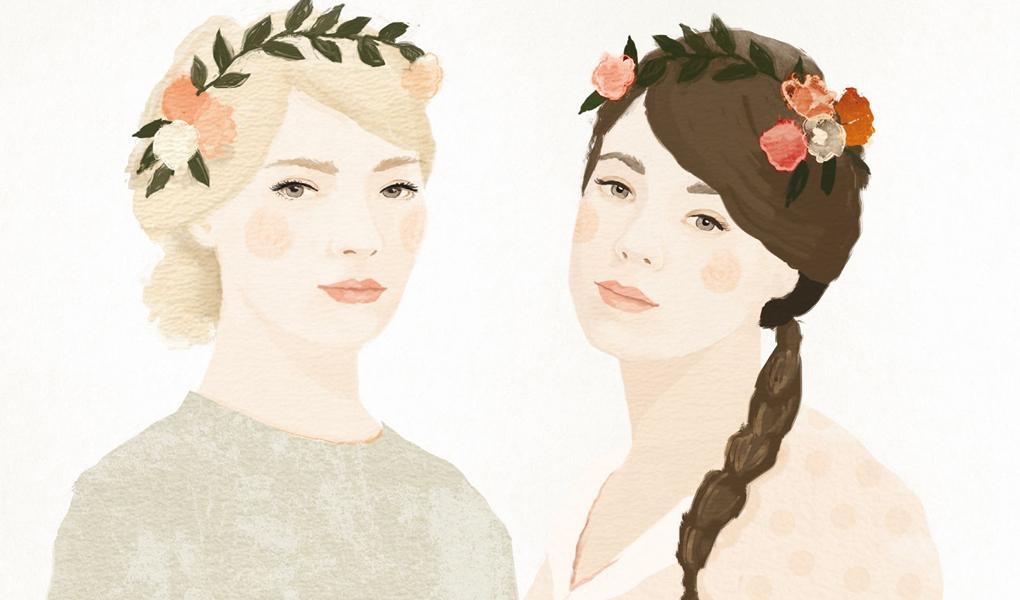 Anna y Marina, protagonistas de Pan de limón con semillas de amapola. Foto: cortesía Planeta.