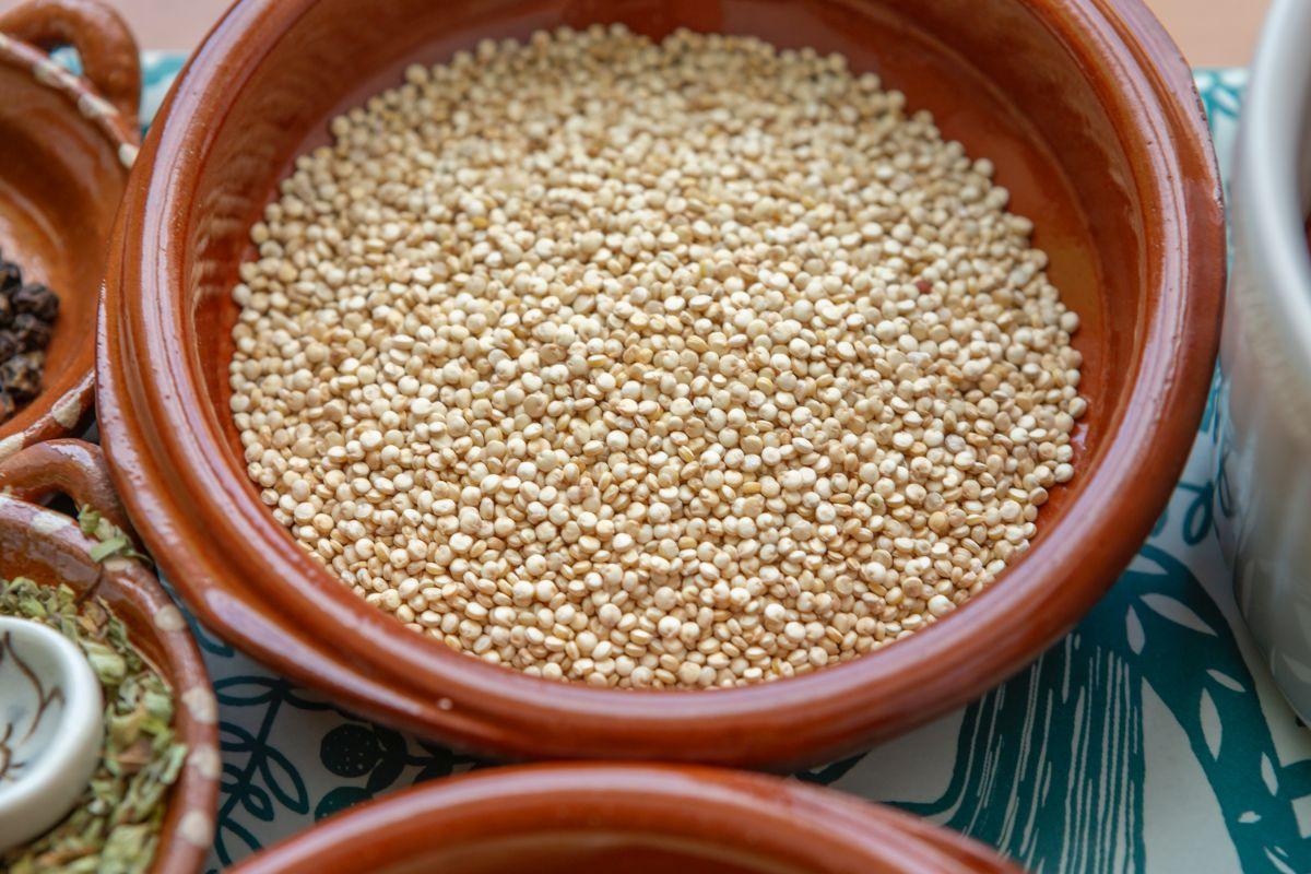 Quinoa sin atamalar con gambas