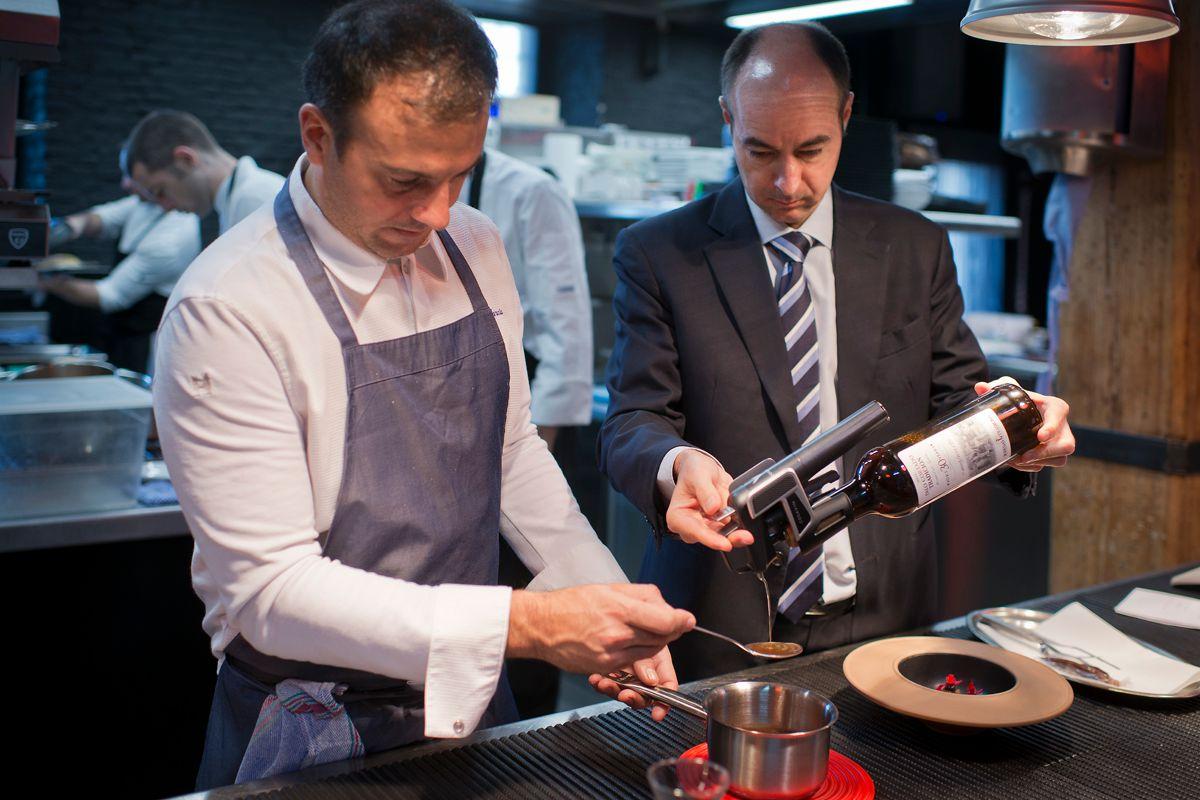 El cocinero David García y el experto en Jerez, Juan Manuel del Rey.