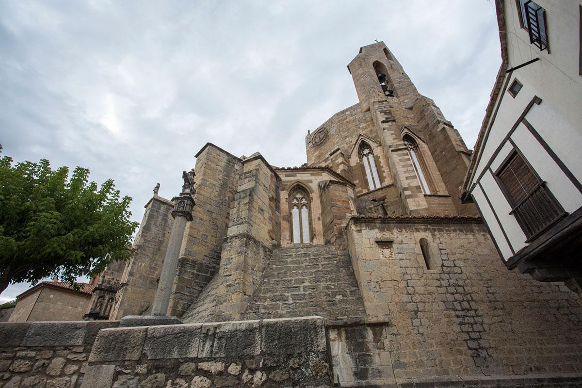 Vista de la Iglesia de Santa María, en Morella.
