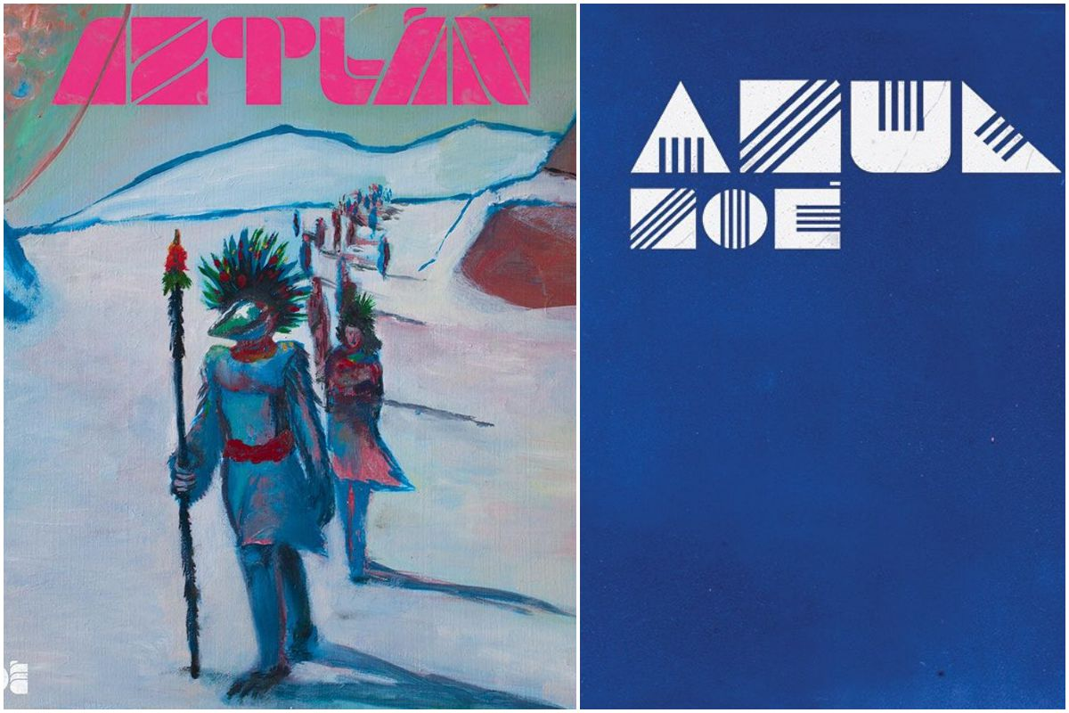 Portada del disco Aztlán, de Zoé, y portada del single Azul. Fotos: Facebook.