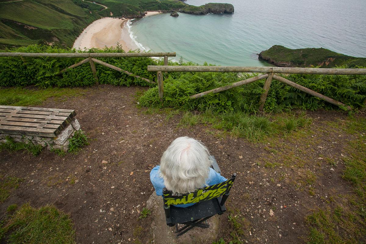 La silla de director en Torimbia, otra foto que no puede faltar. Foto: José García.