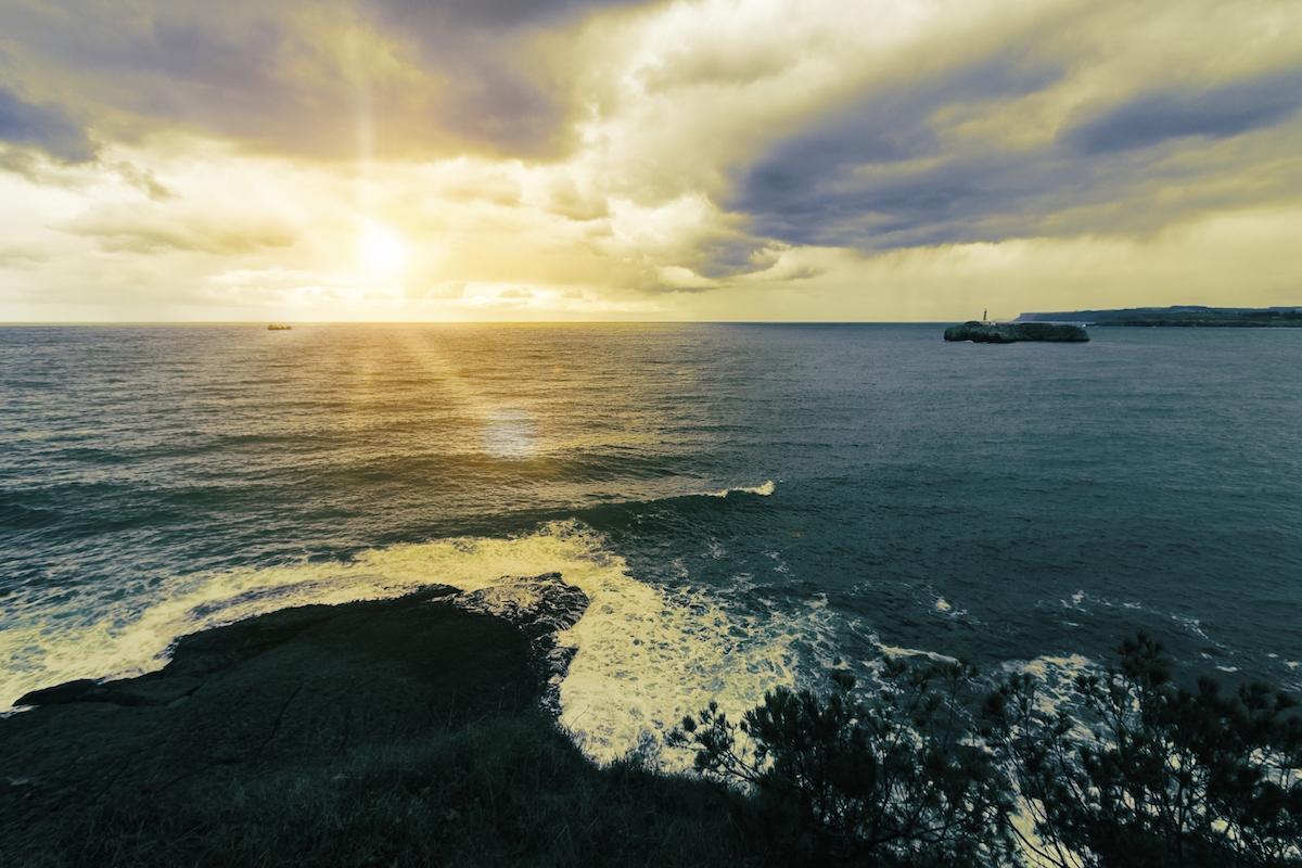 Vista del mar en Santander.