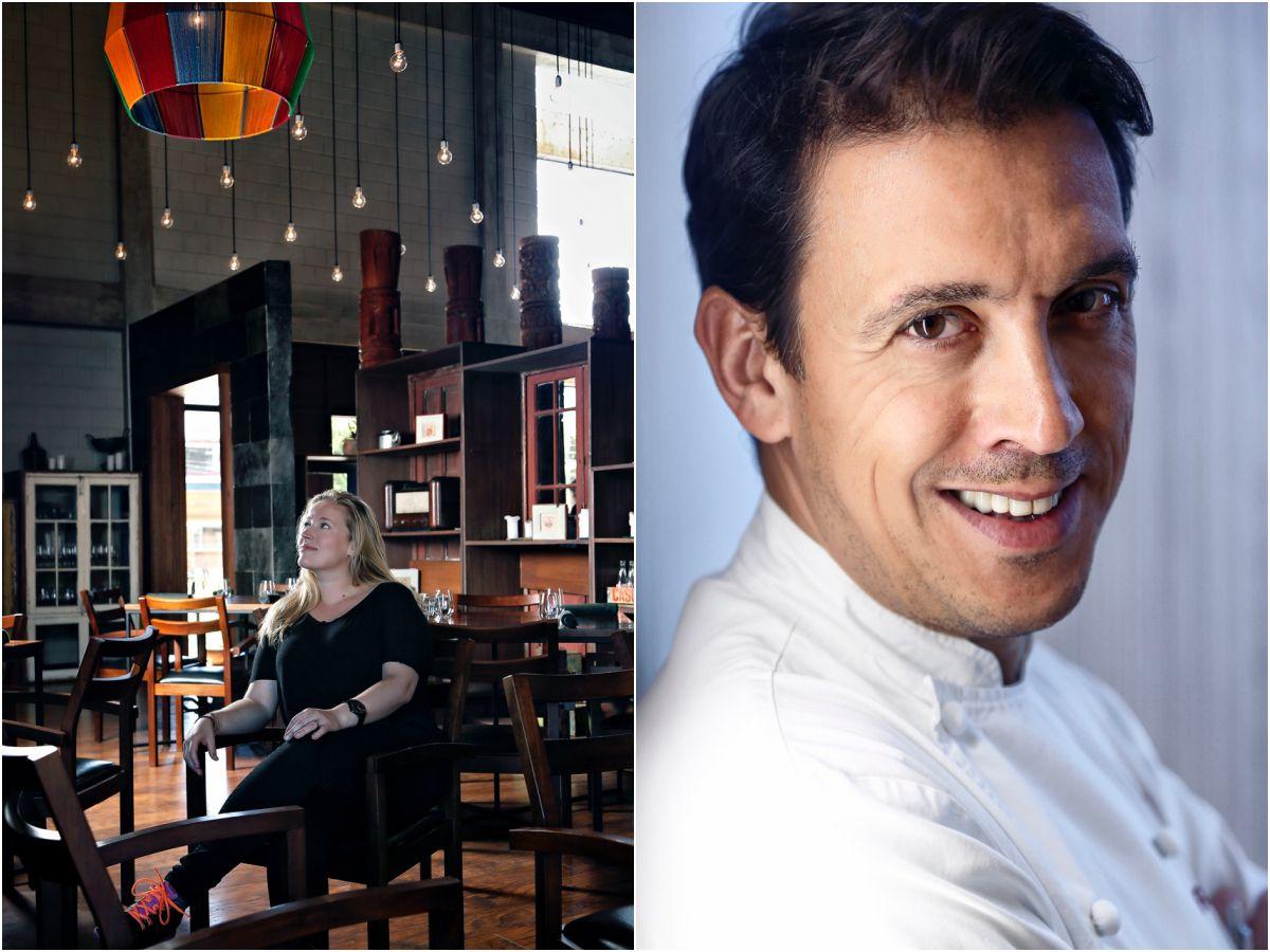 La danesa Kamilla Seidler ('Gastu', en Bolivia) y Francis Paniego ('El Portal de Echaurren', en Ezcaray).
