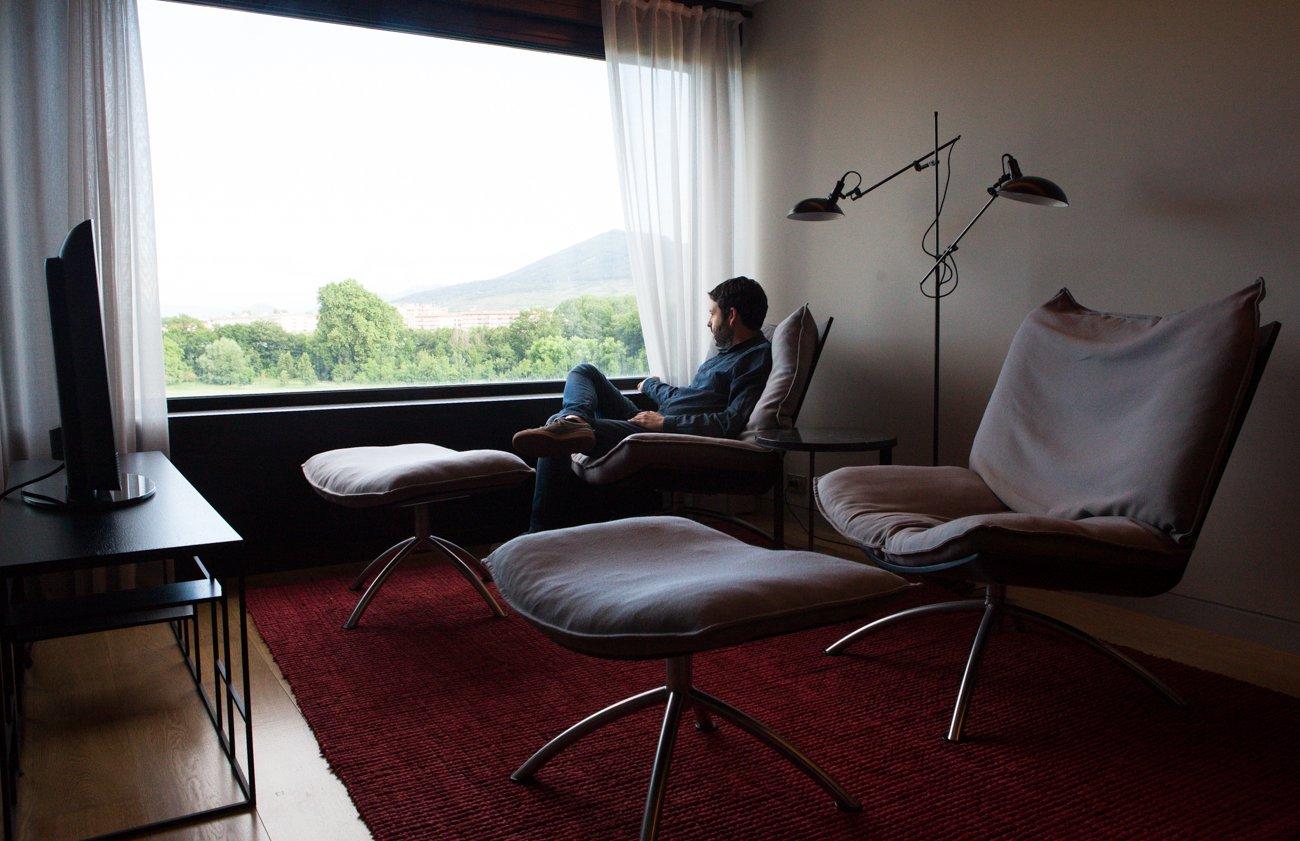 Hotel 'Alma' (Pamplona) - ventana de habitación