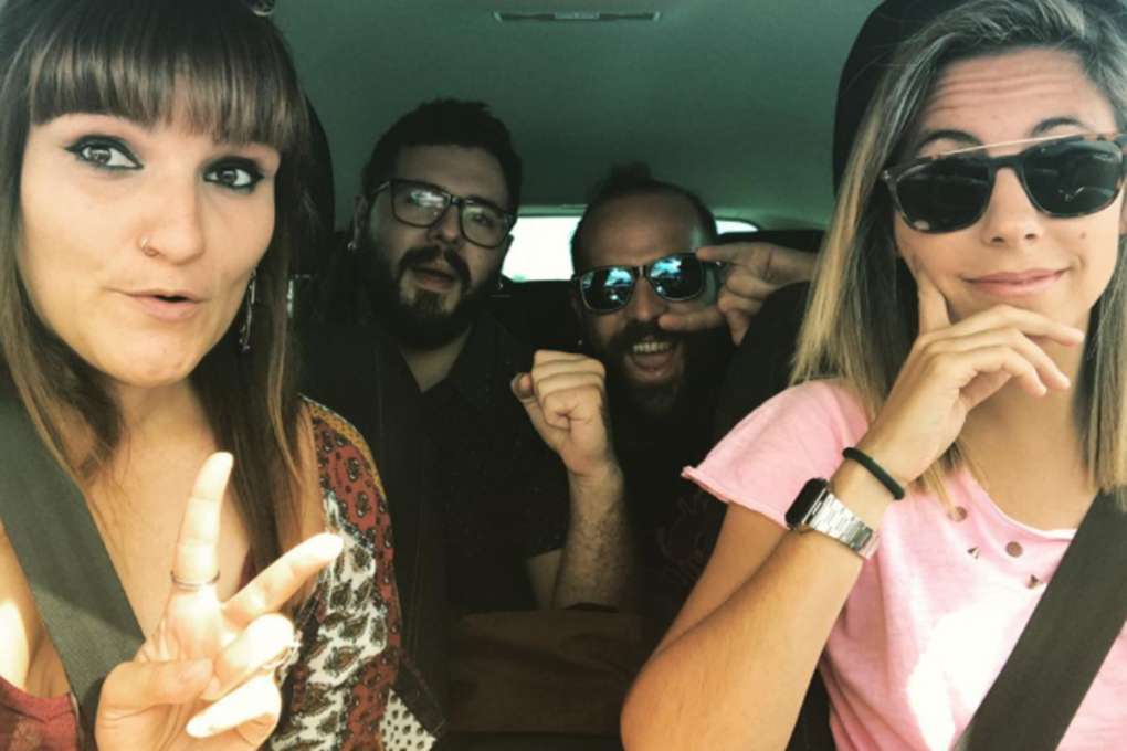 De camino al Natural Tus Festival de Albacete con amigos. Foto: Facebook.