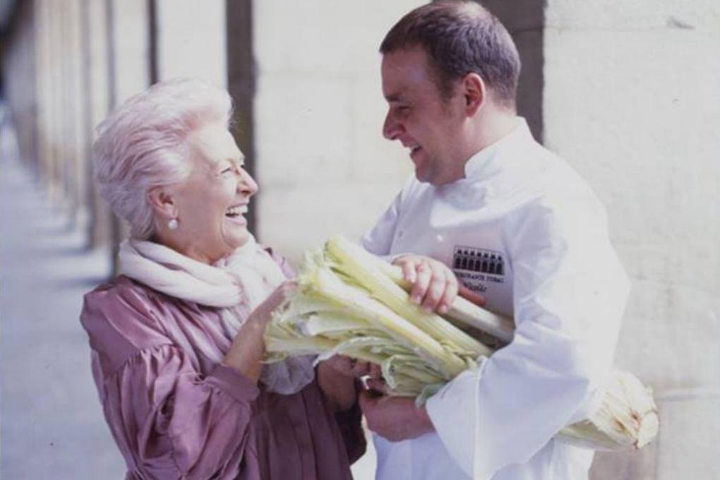 Nicolás Ramírez y su madre.