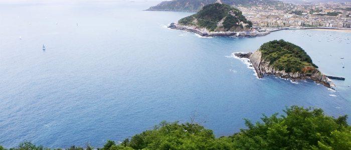 Bahía de Donostia desde el monte Igeldo.