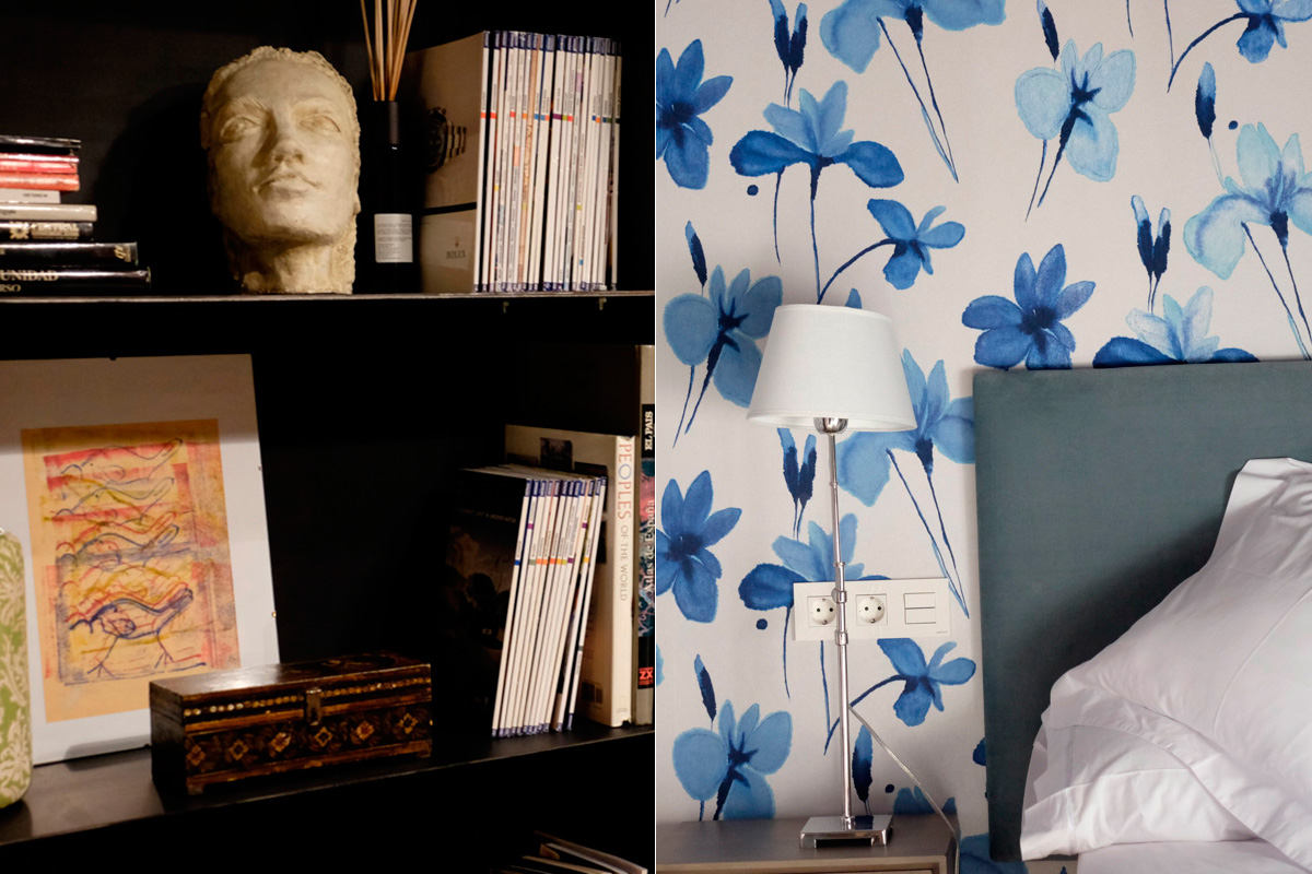 Cada detalle de la casa está cuidado con mimo, como el papel de las habitaciones.
