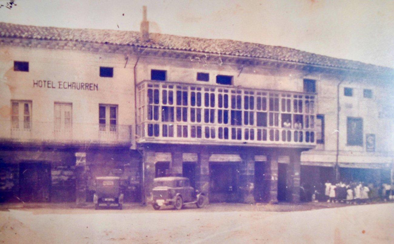 Hotel Echaurren (Ezcaray). Foto antigua.