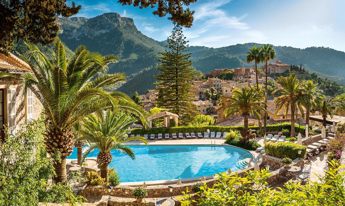 Jardines del hotel La Residencia.