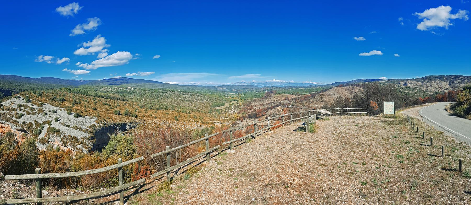 Vistas del Parque Natural de la Sierra y Cañones de Guara.