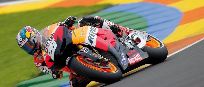 Dani Pedrosa, durante un Gran Premio de la Comunitat Valenciana.
