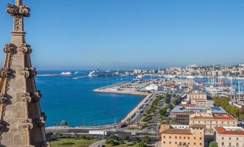 Así se ve la bahía desde la Seu. Foto: Catedral de Mallorca.